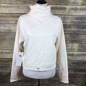 Alo Yoga soleil Top sweatshirt cream size L